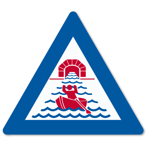 Vassdragsskilt 1-04 NVE Tunnelåpning vannstrøm