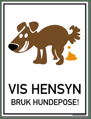 Vis hensyn bruk hundepose