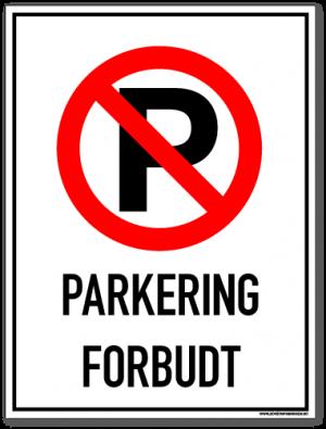 Parkering forbudt P