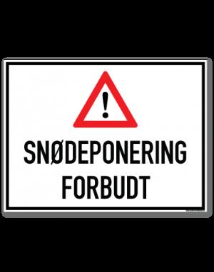 Snødeponering forbudt