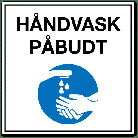 Smittevernskilt-Håndvask påbudt