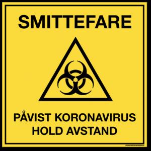 Smittevernskilt-Smittefare