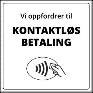 Smittevernskilt | Kontaktløs betaling