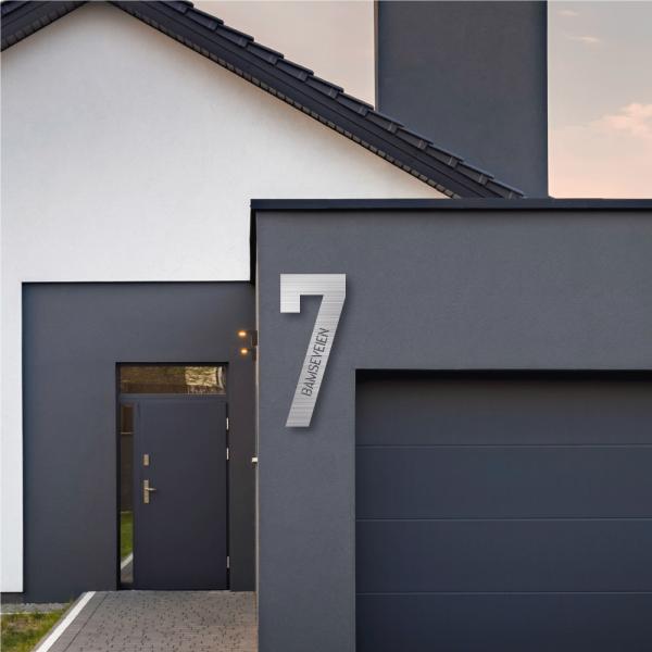 Husnummer med tekst | Aluminium