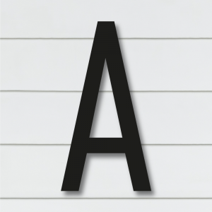 Husnummer bokstaver | Sort