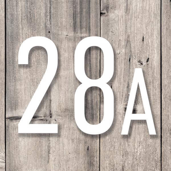 Husnummer bokstaver   Hvit