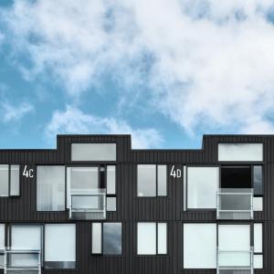 Store husnummer Hvit