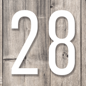 Store husnummerskilt | Hvit
