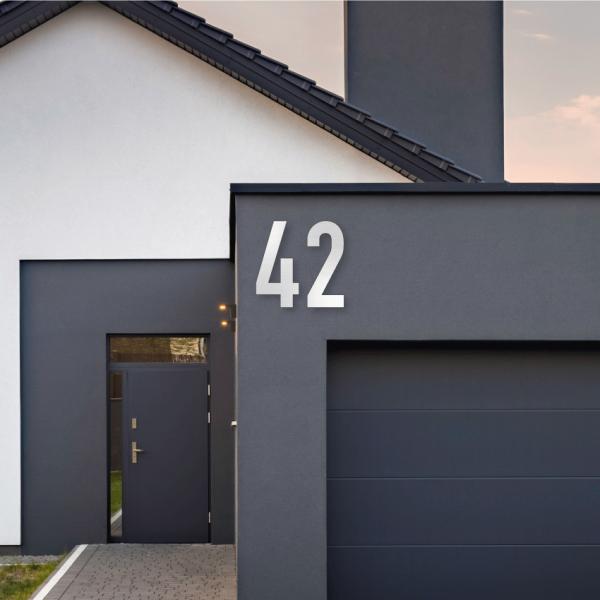 Store husnummerskilt Aluminium