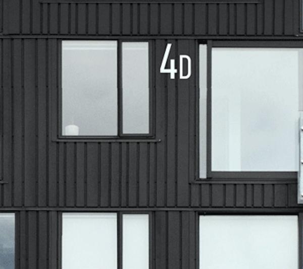 Husnummer bokstaver | Hvit