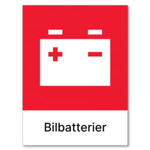 Avfallssortering Bilbatterier
