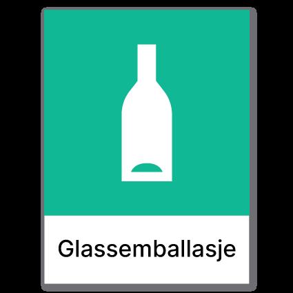 avfallssortering glassemballasje