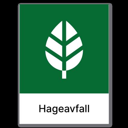 Avfallssortering Hageavfall