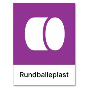 Avfallssortering Rundballeplast