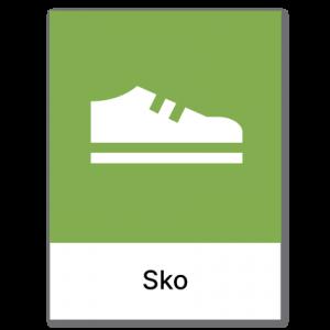 Avfallssortering Sko