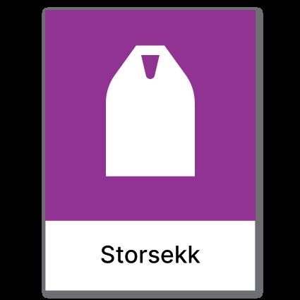 Avfallssortering Storsekk