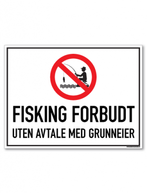 skilt fisking forbudt