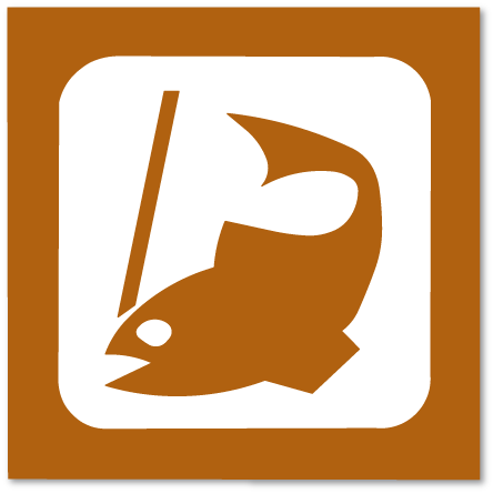piktogram fiskeplass