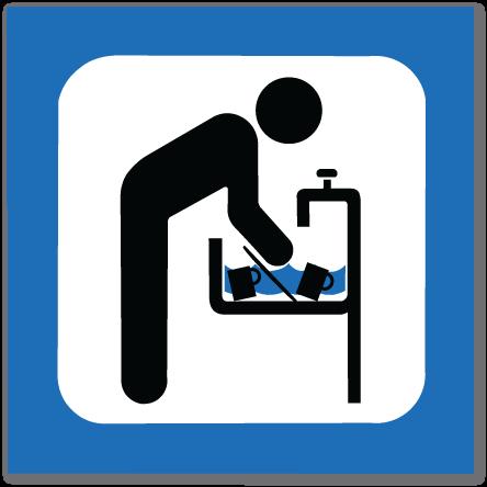 piktogram oppvask