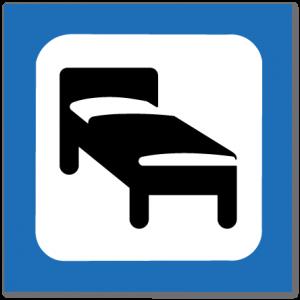 piktogram overnattingssted