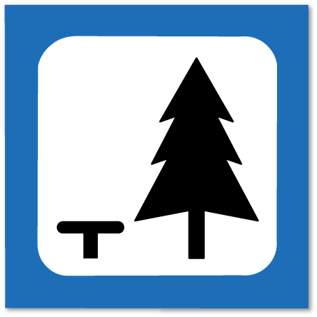 piktogram rasteplass