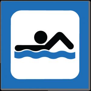 piktogram svømmebasseng