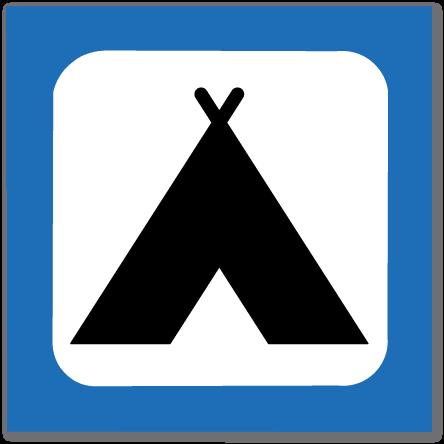 piktogram teltplass