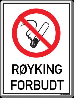 skilt røyking forbudt