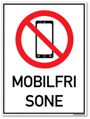 skilt mobilfri sone