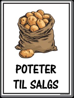 Poteter til salgs