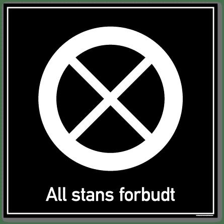 All stans forbudt skilt