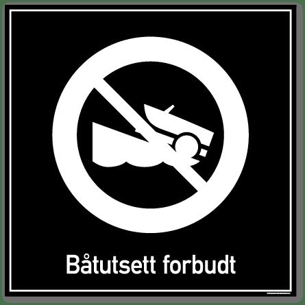 båtutsett forbudt skilt