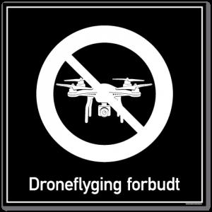 Droneflyging forbudt skilt