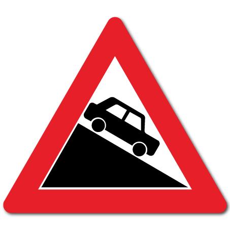 trafikkskilt bratt bakke 104-2