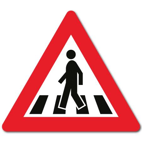 Trafikkskilt Gangfelt 140