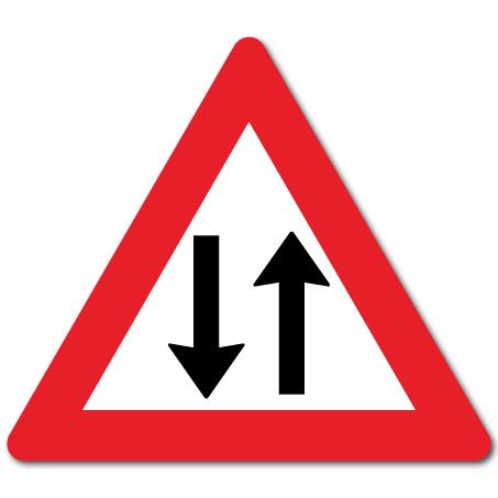 Trafikkskilt Møtende trafikk 148