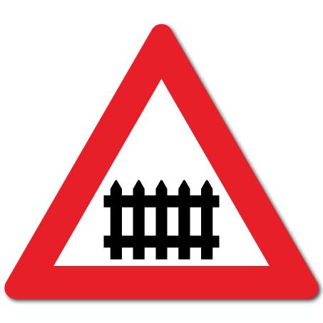 Trafikkskilt Planovergang med bom