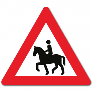 Trafikkskilt Ridende 155