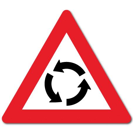 Trafikkskilt Rundkjøring 126