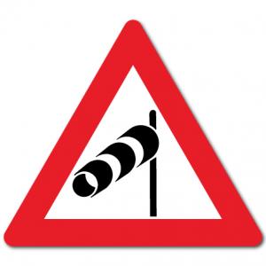 Trafikkskilt Sidevind 152