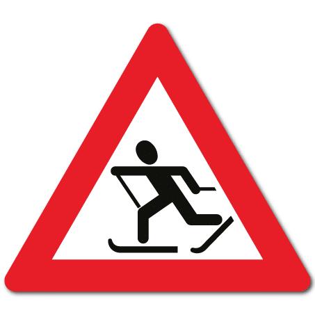 Trafikkskilt Skiløpere 154