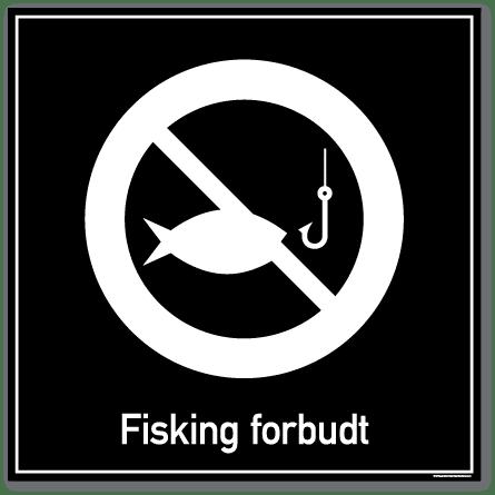 Fisking forbudt skilt