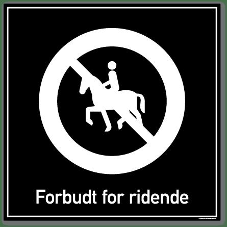 forbudt for ridende skilt