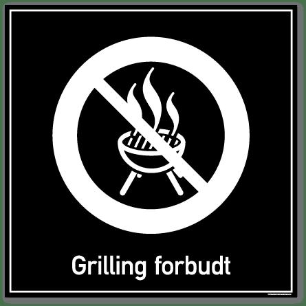 Grilling forbudt skilt