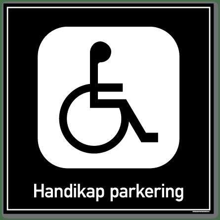 Handikap parkering skilt