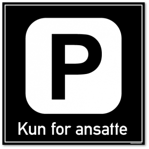 Parkering kun for ansatte
