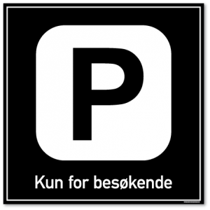 Parkering kun for besøkende skilt