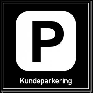 Kundeparkering skilt