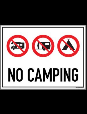 no camping skilt