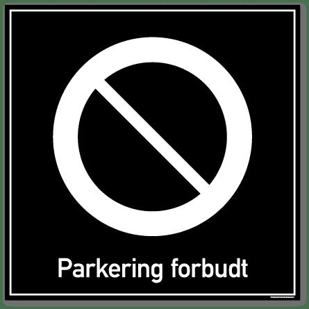Parkering forbudt privatrettslig skilt